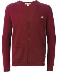 Cardigan bordeaux Burberry