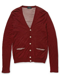 Cardigan bordeaux Incotex