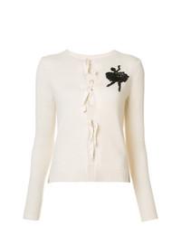 Cardigan brodé blanc Marc Jacobs