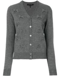 Cardigan brodé gris Marc Jacobs