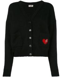 Cardigan brodé noir Saint Laurent