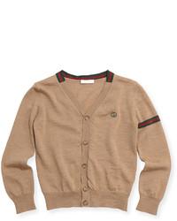 Cardigan brun clair
