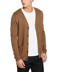Cardigan brun clair Selected