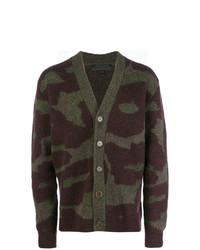 Cardigan camouflage olive Stella McCartney