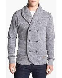 Cardigan croisé gris