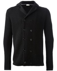 Cardigan croisé noir Paolo Pecora