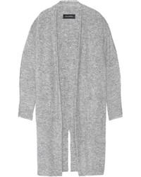 Cardigan en mohair en tricot gris By Malene Birger