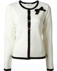 Cardigan en tricot blanc et noir