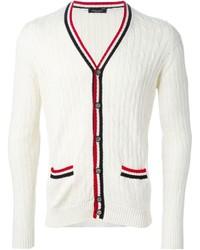 Cardigan en tricot blanc