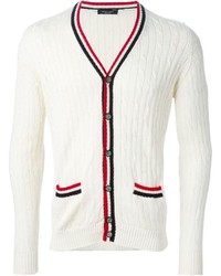 Cardigan en tricot blanc Roberto Collina