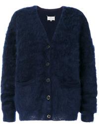 Cardigan en tricot bleu marine Maison Margiela