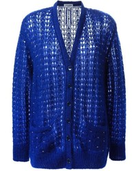 Cardigan en tricot bleu
