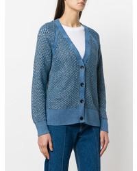 Cardigan en tricot bleu Rag & Bone