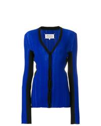 Cardigan en tricot bleu Maison Margiela