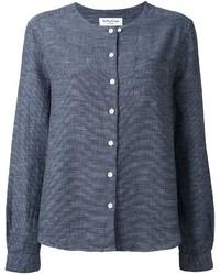 Cardigan en tricot bleu YMC