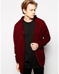 Cardigan en tricot bordeaux Asos