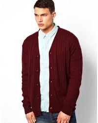 Cardigan en tricot bordeaux Brave Soul
