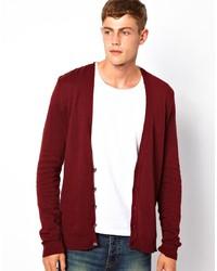 Cardigan en tricot bordeaux D-struct