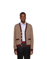 Cardigan en tricot bordeaux Gucci