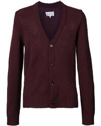 Cardigan en tricot bordeaux Maison Margiela