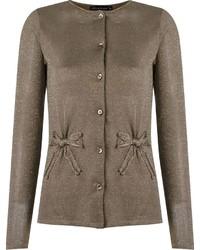 Cardigan en tricot brun Cecilia Prado
