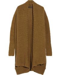 Cardigan en tricot brun Donna Karan