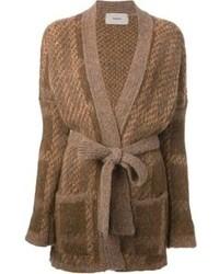Cardigan en tricot brun Humanoid