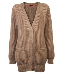 Cardigan en tricot brun Lanvin
