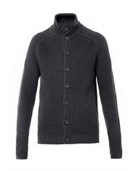 Cardigan en tricot gris foncé