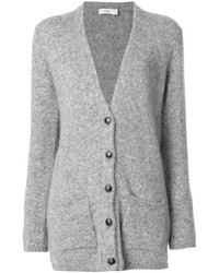 Cardigan en tricot gris