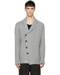 Cardigan en tricot gris Alexander McQueen
