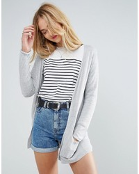 Cardigan en tricot gris Asos
