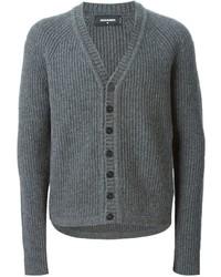 Cardigan en tricot gris DSQUARED2