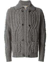 Cardigan en tricot gris Etro