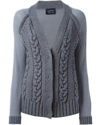 Cardigan en tricot gris Lanvin