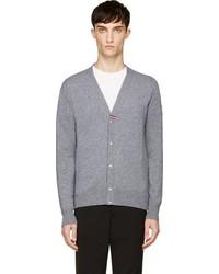 Cardigan en tricot gris Moncler
