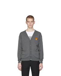 Cardigan en tricot gris Moschino