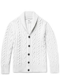 Cardigan en tricot gris Richard James