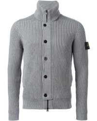 Cardigan en tricot gris Stone Island