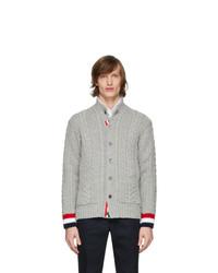 Cardigan en tricot gris Thom Browne