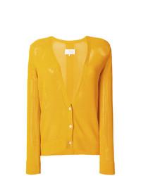 Cardigan en tricot jaune Maison Margiela