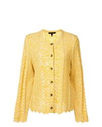 Cardigan en tricot jaune Marc Jacobs