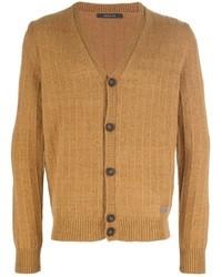 Cardigan en tricot marron clair