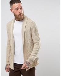 Cardigan en tricot marron clair Asos