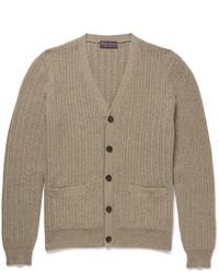 Cardigan en tricot marron clair Ralph Lauren Purple Label