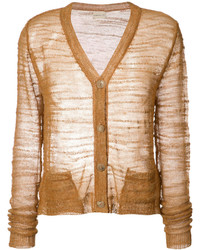 Cardigan en tricot marron clair Simon Miller