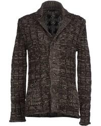 Cardigan en tricot marron foncé