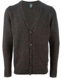 Cardigan en tricot marron foncé Eleventy