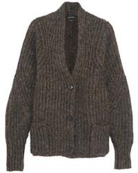 Cardigan en tricot marron foncé Isabel Marant
