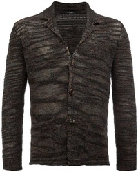 Cardigan en tricot marron foncé Roberto Collina